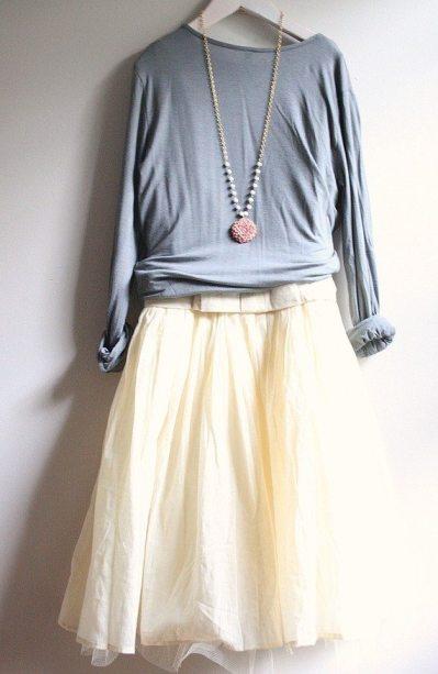 tulle skirt sweater trend