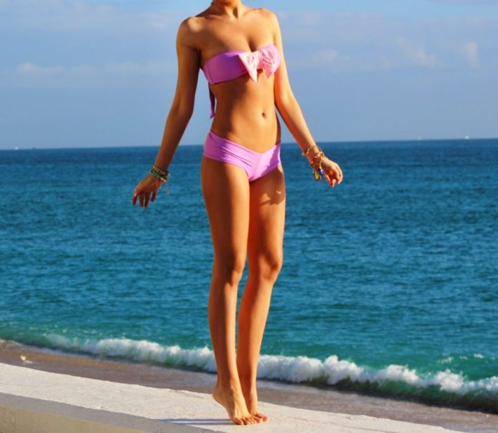 Lolli Swim bikini neon angel bow bottom cheeky