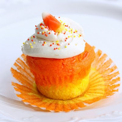 candy corn cupcake halloween treats