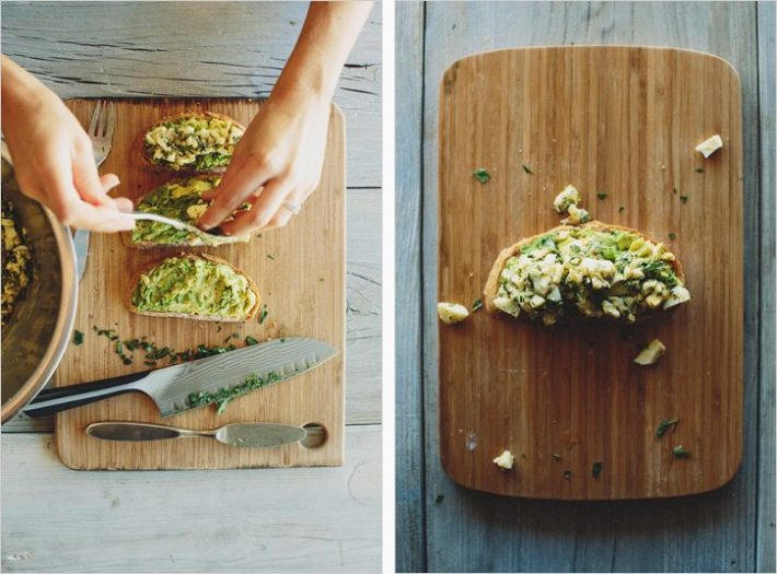 Avocado Tartine with Gribiche Egg Salad and other healthy recipes from top food bloggers and instagram accounts!