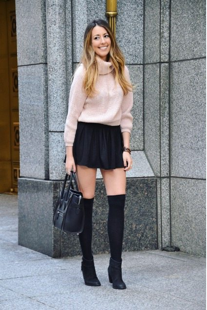 turtlenecks & high socks outfit