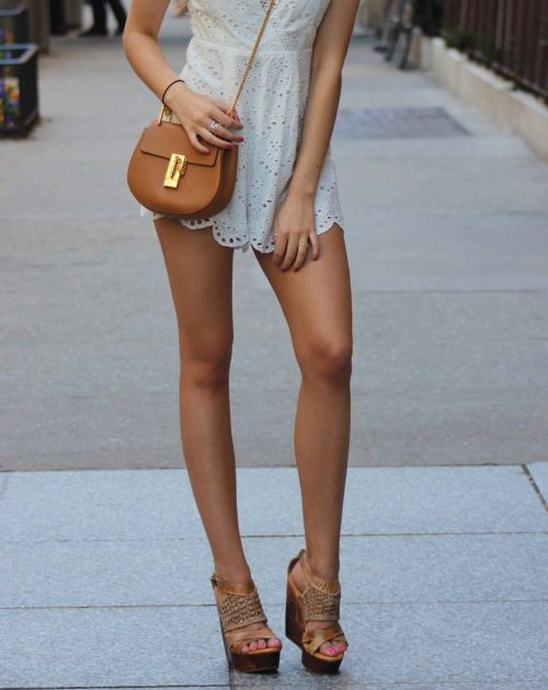 Cute summer lace romper