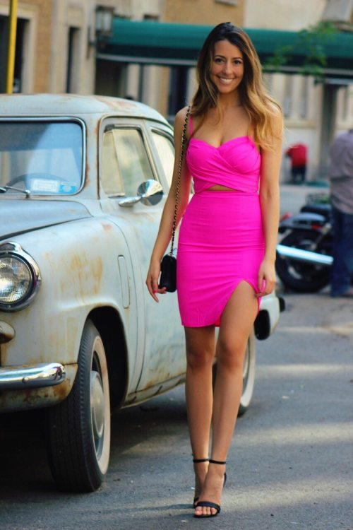 Sexy Pink Dress by Mura Boutique