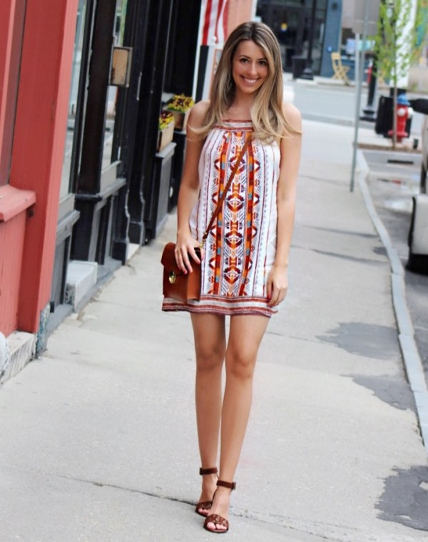 little mini summer dress & cutest comfortable spring sandals