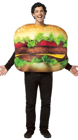 16 Hilarious men's halloween costumes - Cheeseburger