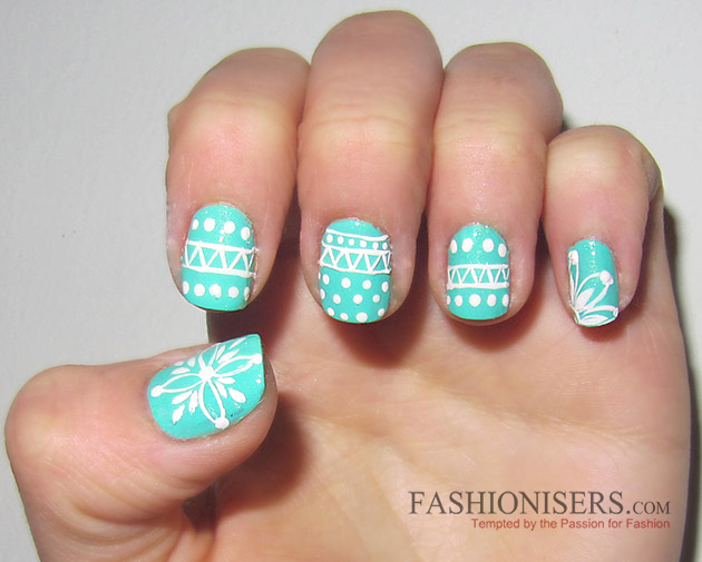 New Year S Eve Nail Art Designs Winter Sweater Nails