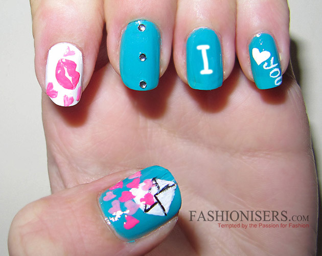 17 Love Inspired Valentine S Day Nail Art Designs Letter Nails