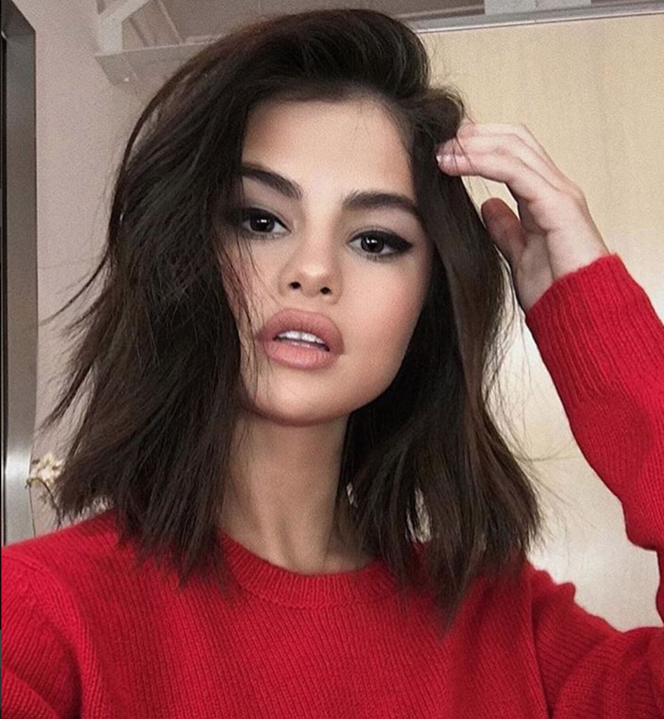 The 8 Trendiest Hairstyles of 2017 Selena Gomez lob