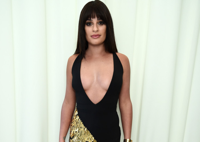 Celebrities Best Plunging Necklines From 2018 Red Carpets Lea Michele