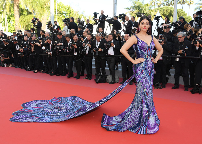 Aishwarya Rai Wins The Cannes Red Carpet in a Dramatic Butterfly Dress