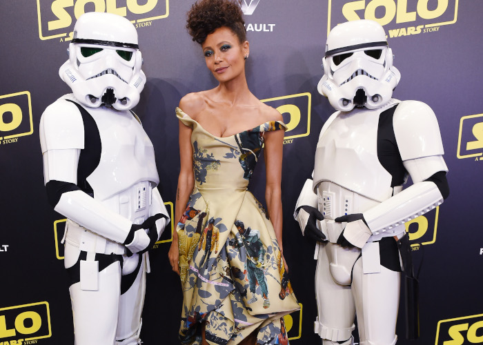 Thandie Newton Wore Black _Star Wars_ Characters On Her Dress