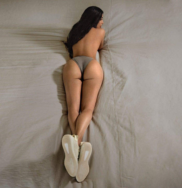 Almost-Naked-Kim-Fronts-Yeezy's-Butter-Campaign-underwear