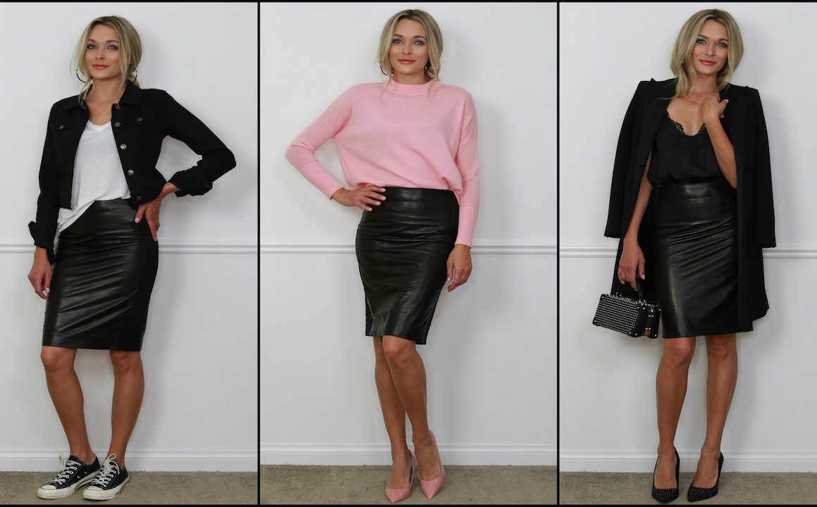 Get Trending: Three Ways To Rock A Leather Skirt
