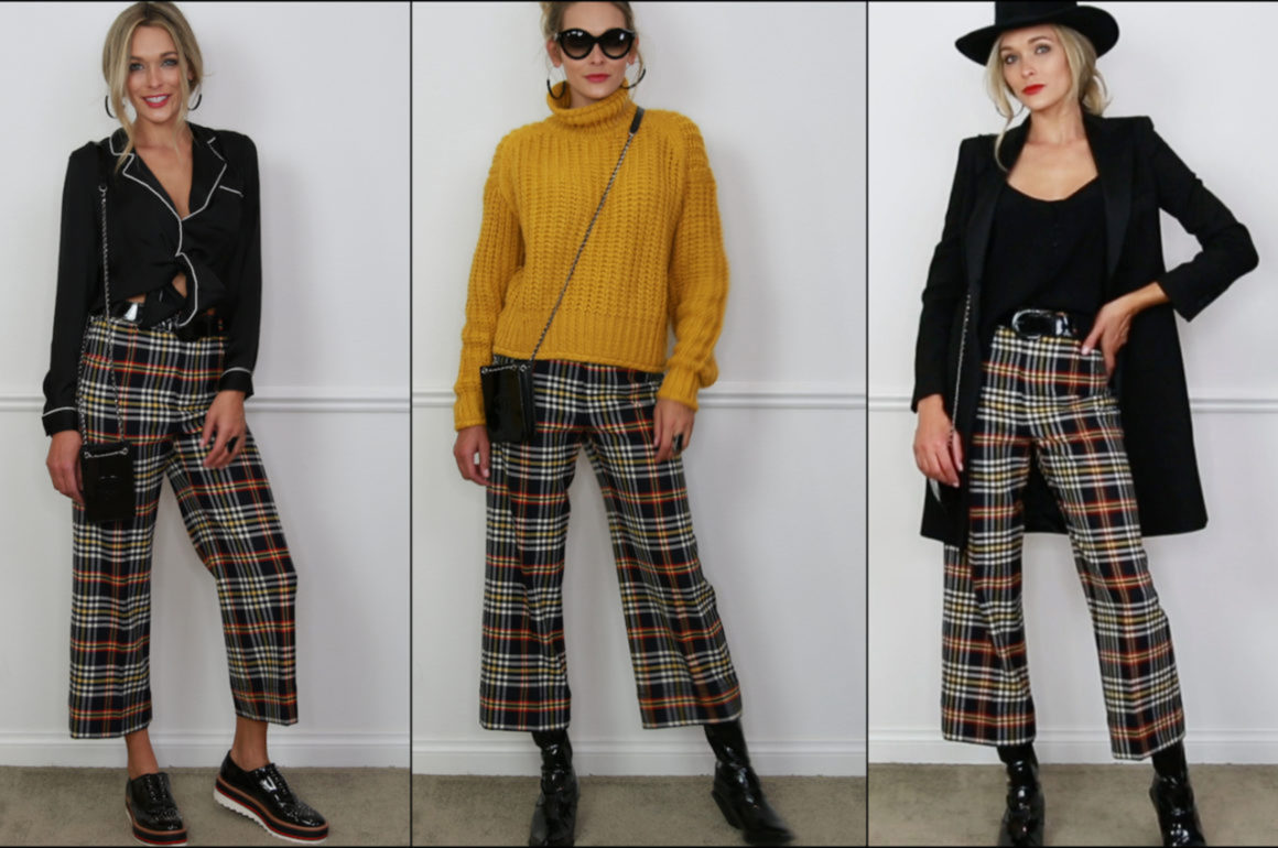 Get Trending: Three Ways To Style Plaid Pants