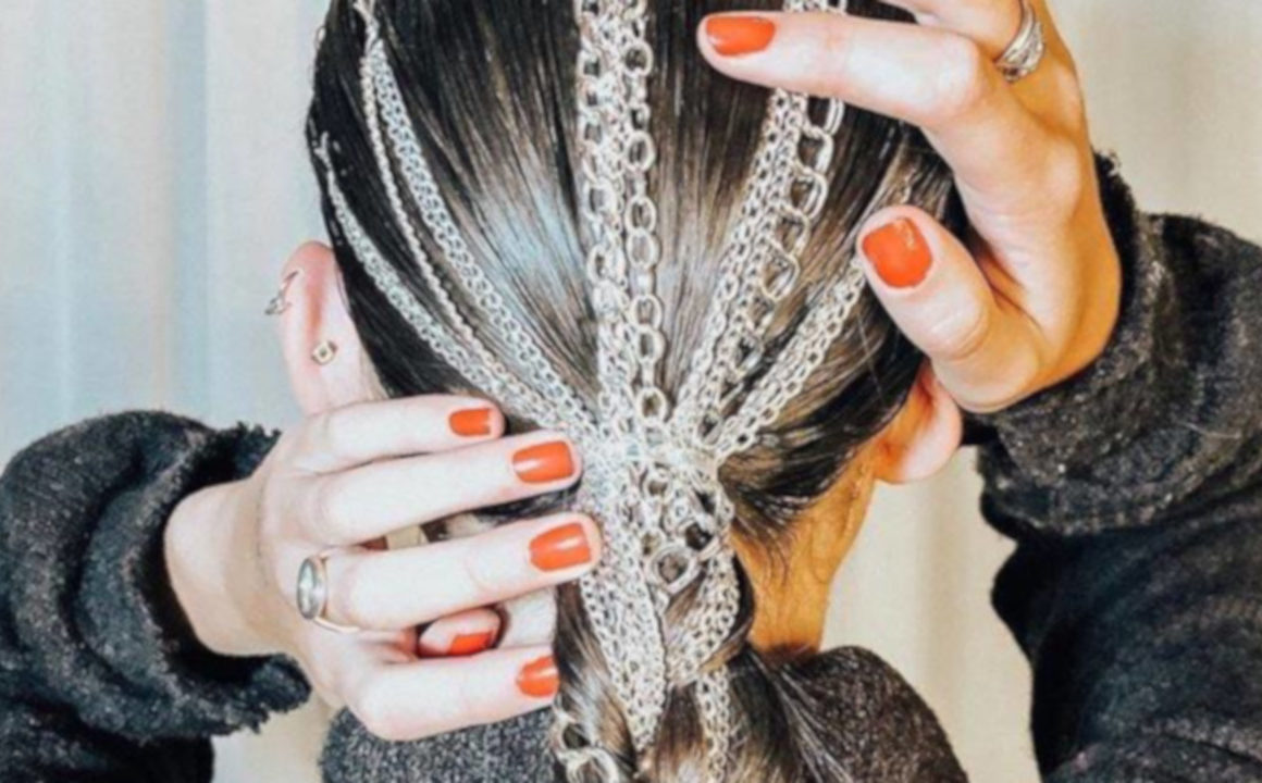 The-Beauty-Trends-From-Fall-2019-NYFW-Youll-Actually-Want-to-Try-Metal-and-Bejeweled-Hair-Accessories1