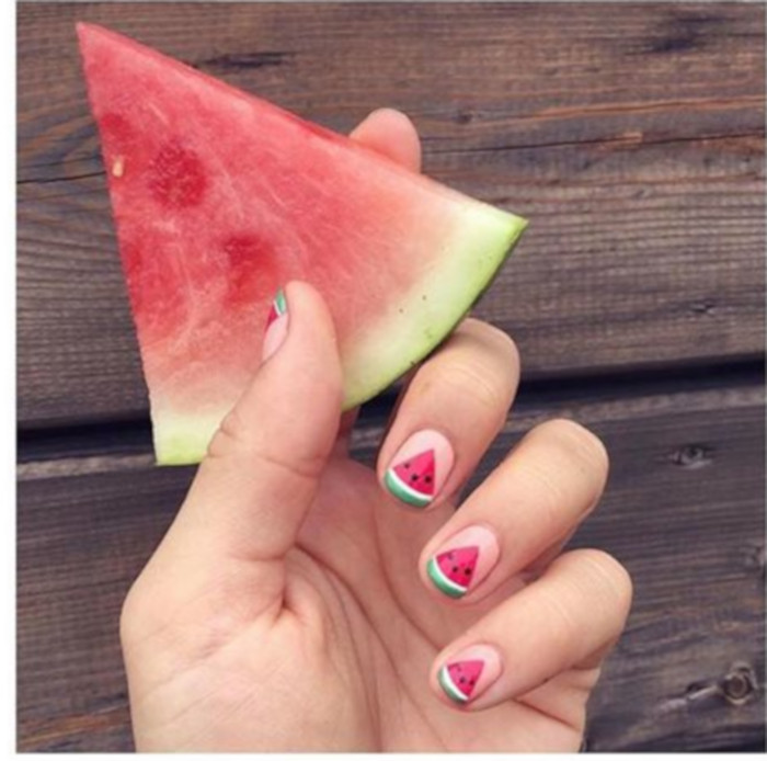 Watermelon Nail Art Is The Hottest Summer Trend