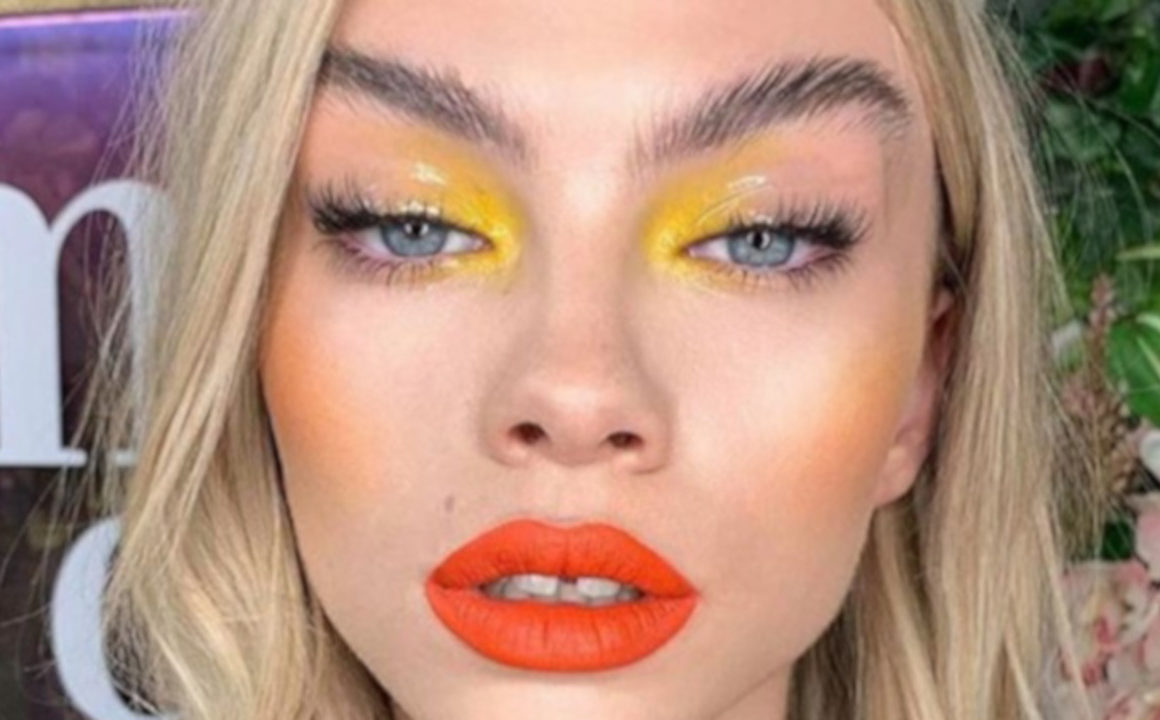 how to wear neon makeup for fall