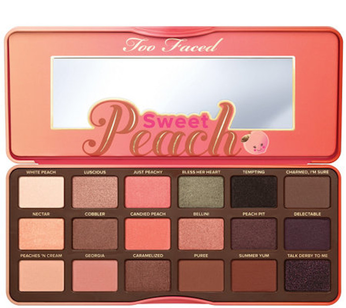 too faced peach eyeshadow palette