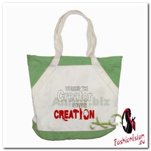 worship the creator Accent Tote Bag