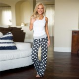 Dot Checkerboard Pants