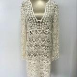 Sexy-Ladies-White-Handmade-Crochet-Summer-Beach-Lace-Dress-Women-Long-Sleeve-Hollow-Out-Boho