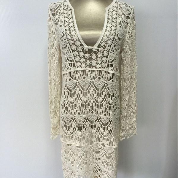 8b1328dbdac ... Sexy-Ladies-White-Handmade-Crochet-Summer-Beach-Lace-