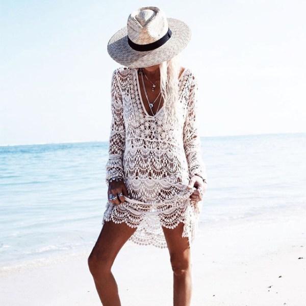 da343853311 Home   Dresses Bohemian Style Casual   Bohemian White Handmade Crochet  Summer. White Handmade Crochet