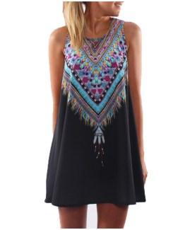 Boho Sexy Chiffon Beach Dress