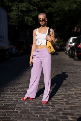 The Street Style Crowd Wore Big Billowy Sleeves On Day 1