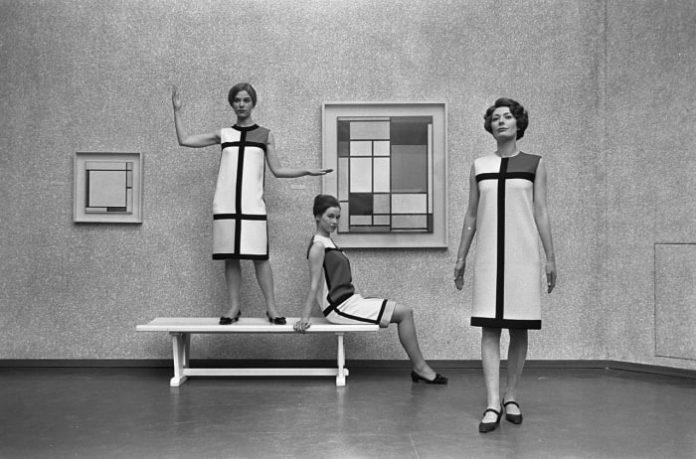 Yves Saint Laurent's Mondrian Collection.  Photo: Wikipedia Commons
