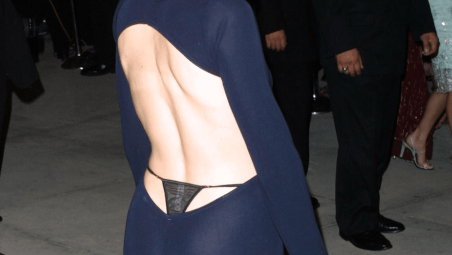We Regret to Inform You: Thongs Peeking Out From Backless Dresses Are a Fall Trend