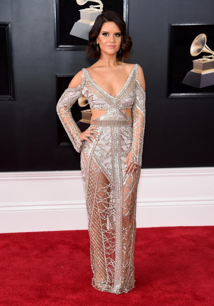 maren-morris-grammys See All the Red-Carpet Looks From The 2018 Grammy Awards