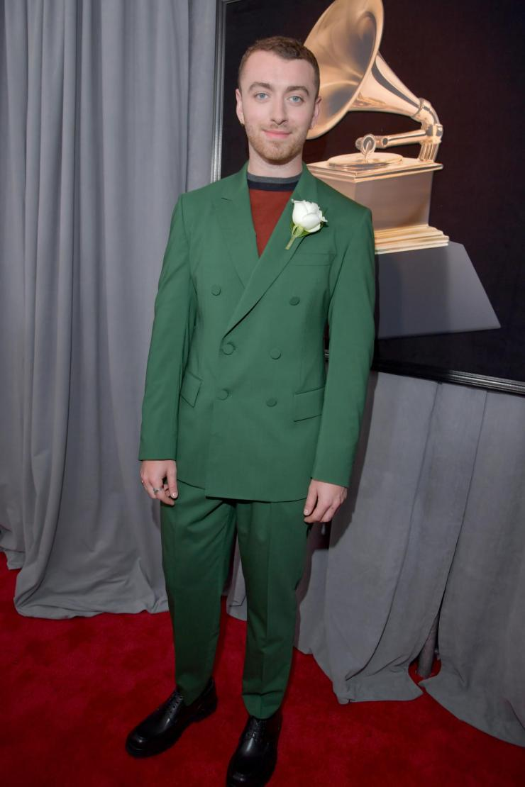 sam smith grammys - See All the Red-Carpet Looks From The 2018 Grammy Awards