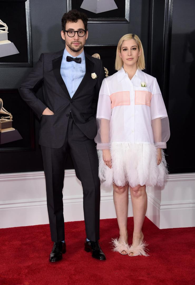 rachel-jack-antonoff-grammys See All the Red-Carpet Looks From The 2018 Grammy Awards