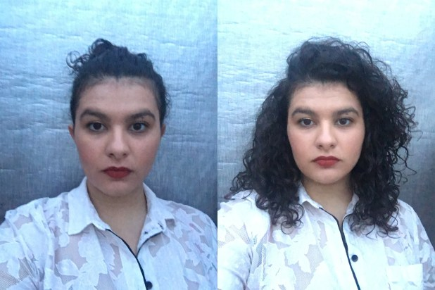 Before (left) and after (right) using Madam C.J. Walker mist. Photos: Tamim Alnuweiri
