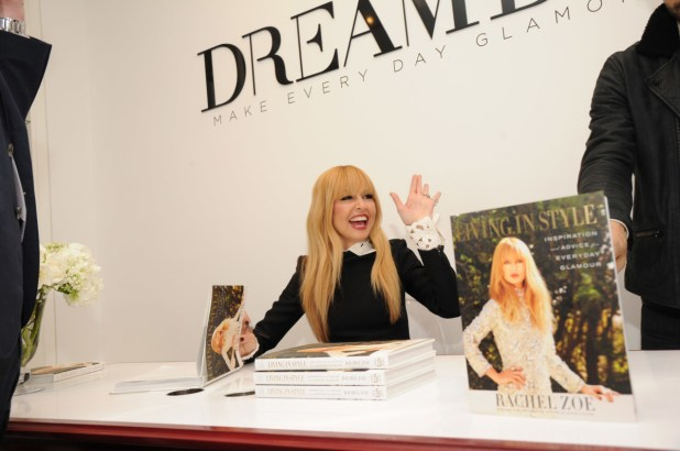 Zoe doing a book signing at DreamDry. Photo: Bryan Bedder/Getty Images