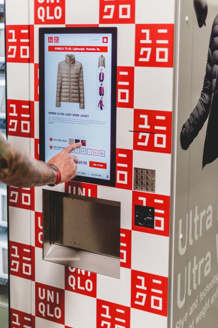 """A """"Uniqlo to Go"""" machine. Photo: Uniqlo"""