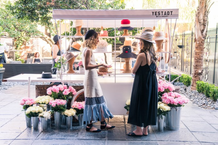 Cleo Wade (left) at the Yestadt Millinery pop-up shop at W New Orleans. Photo: Courtesy