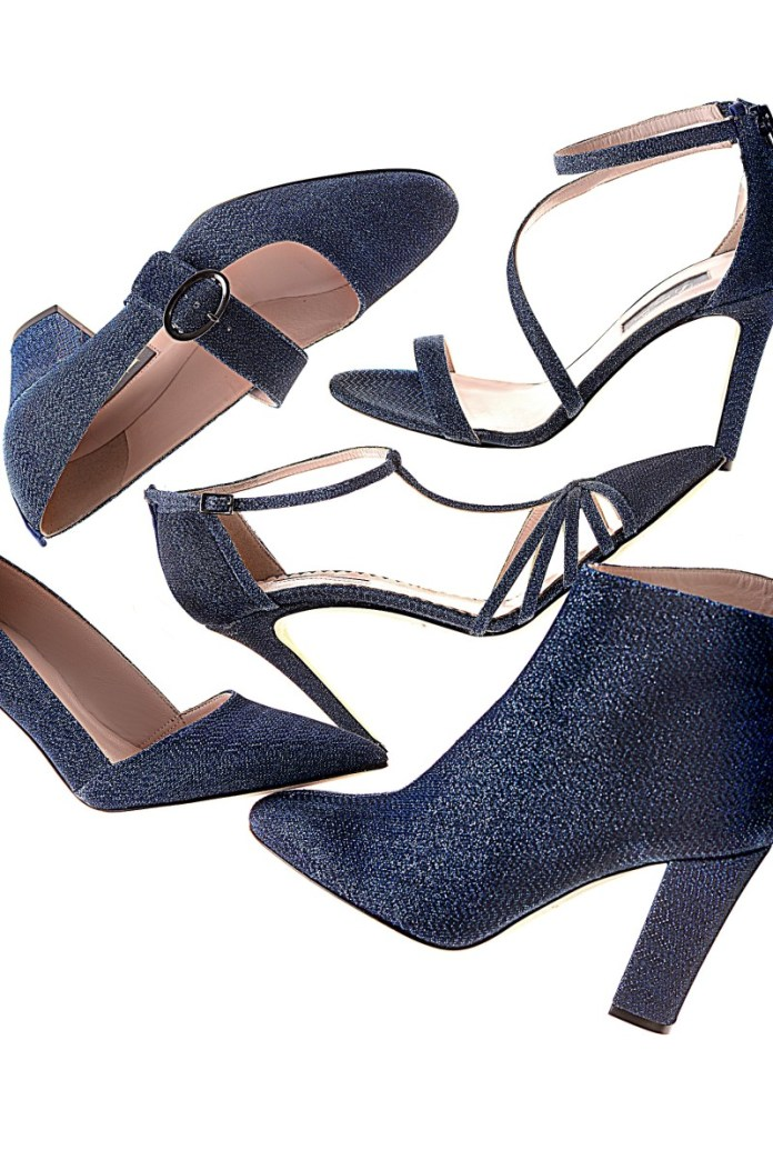 """SJP styles in an exclusive glittery """"Bellagio blue"""" colorway. Photo: Courtesy"""