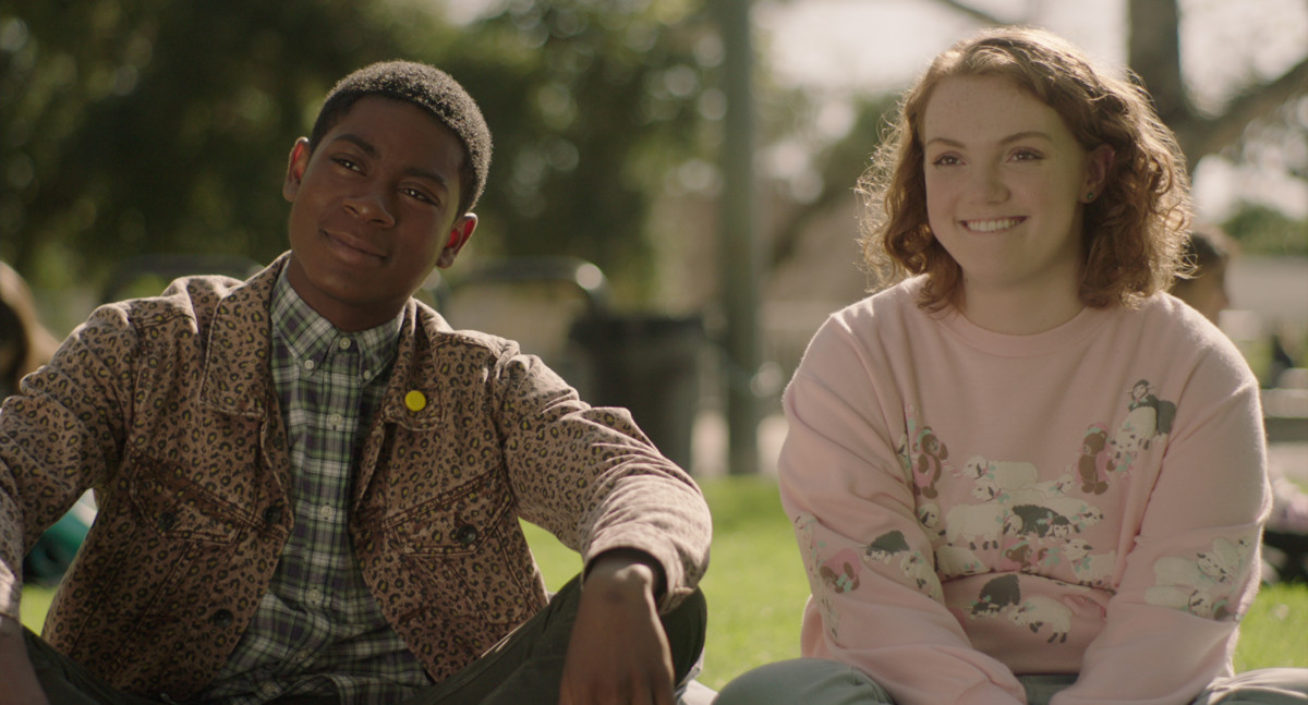 Dan (R.J. Cyler) and Sierra Burgess (Shannon Purser) in their signature looks. Photo: Courtesy of Netflix