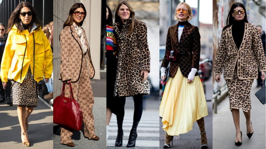 Leopard Print and Gucci Logos Took Over Street Style on Day 1 of     Leopard print and Gucci logos  Photos  Chiara Marina Grioni Fashionista   Imaxtree
