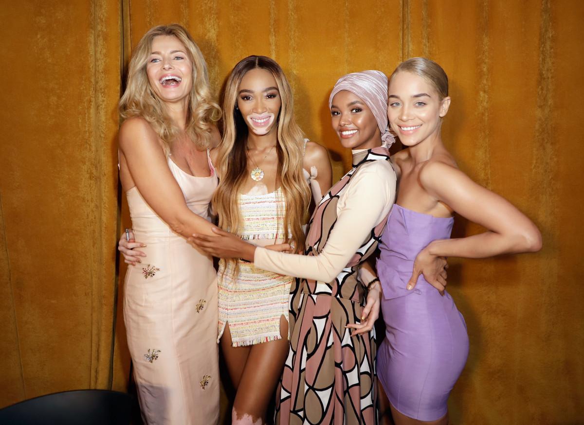 Paulina Porizkova, Winnie Harlow, Halima Aden and Jasmine Sanders. Photo:John Parra/Getty Images for Sports Illustrated