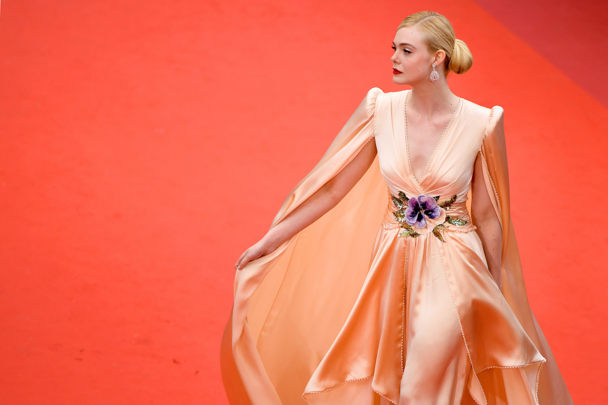 "Elle Fanning in Gucci at ""The Dead Don't Die"" Premiere and Opening Ceremony Red Carpet at the 72nd Annual Cannes Film Festival. Photo: Matt Winkelmeyer/Getty Images"