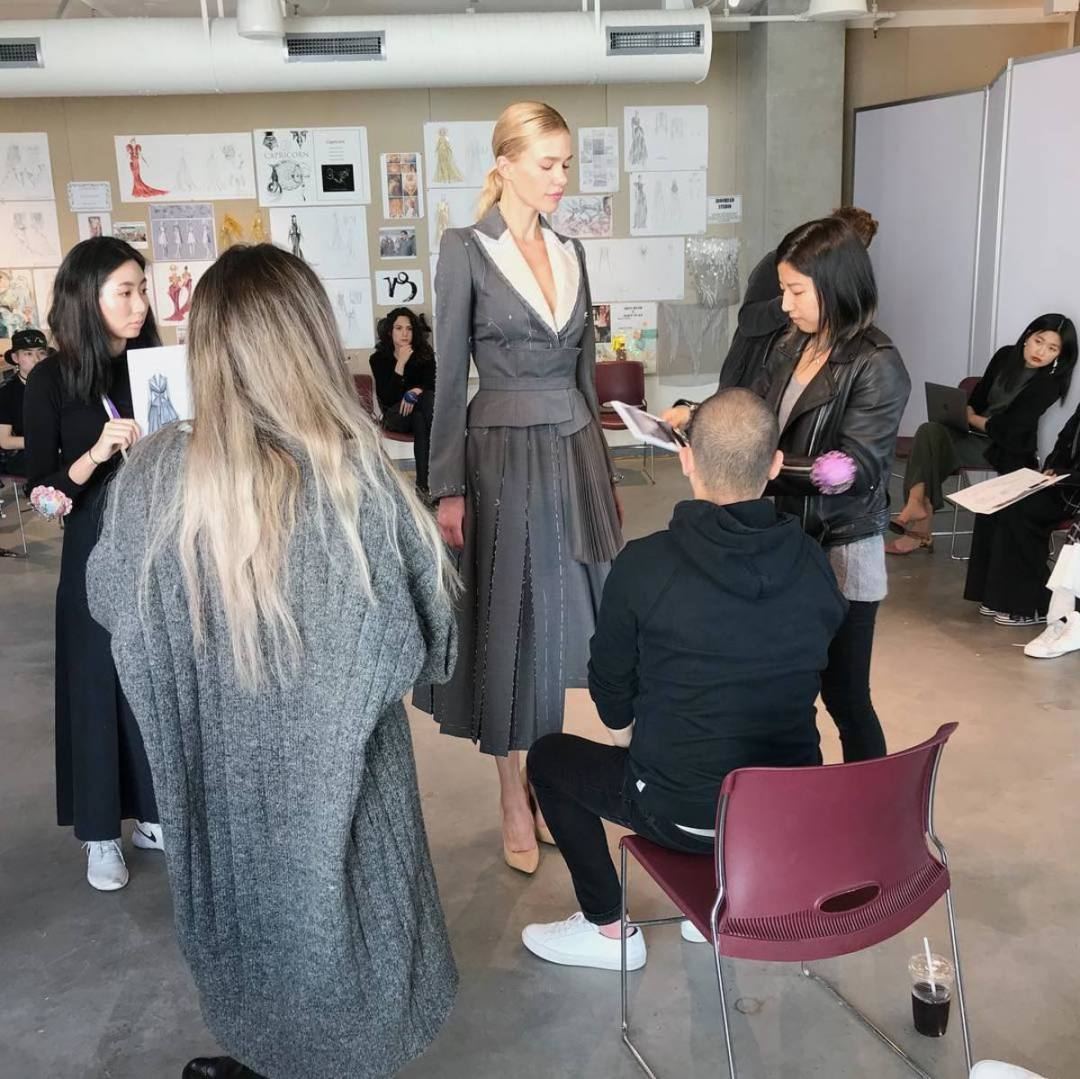 Jamie Lee and her design with Jason Wu.Photo: Courtesy of Jamie Lee
