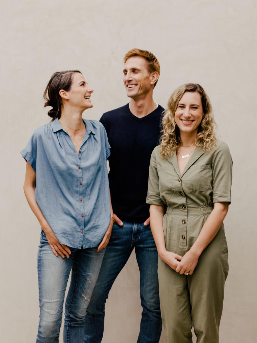 FoundersLaurel Angelica Meyers, Christopher Gavigan and Jessica Assaf. Photo: Courtesy of Prima