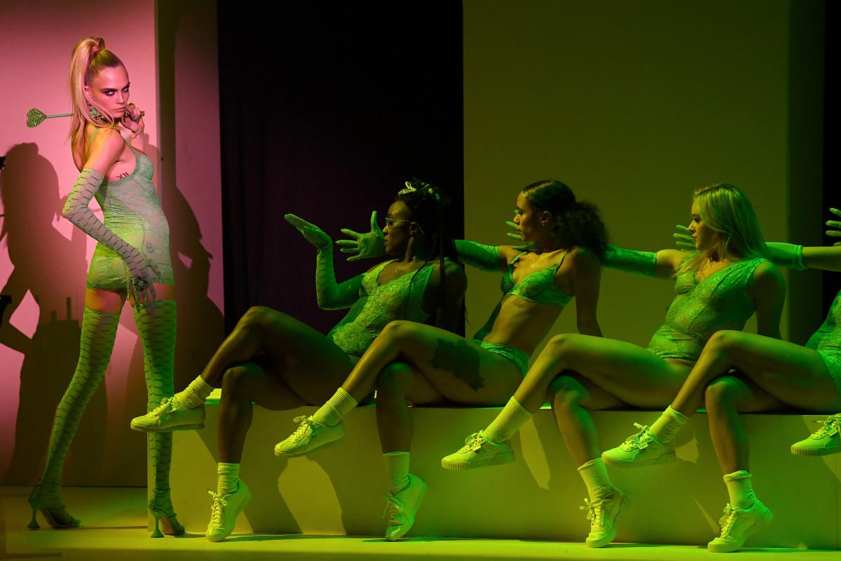Cara Delevingneat the Savage X Fenty Show during New York Fashion Week. Photo: Courtesy of Savage X Fenty.
