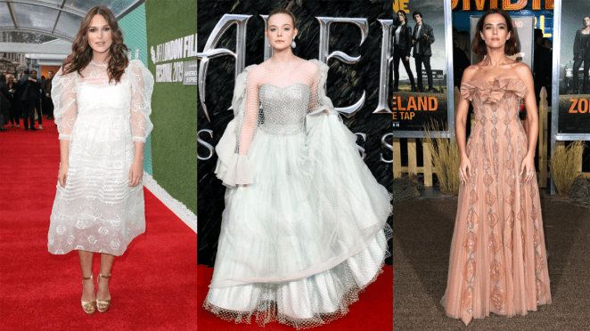 Keira Knightley, Elle Fanning and Zoey Deutch. Photos: Getty Images
