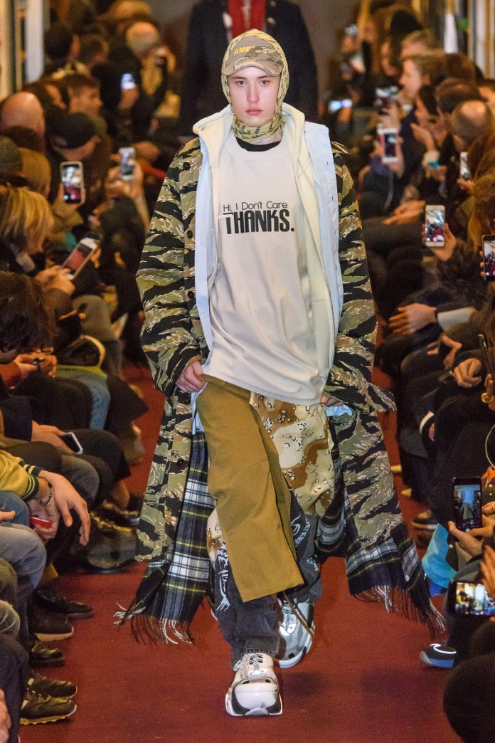 Just when you thought dad sneakers couldn't get clunkier or uglier, Demna Gvasalia DID THAT for Vetements Fall 2018. Photo: Imaxtree