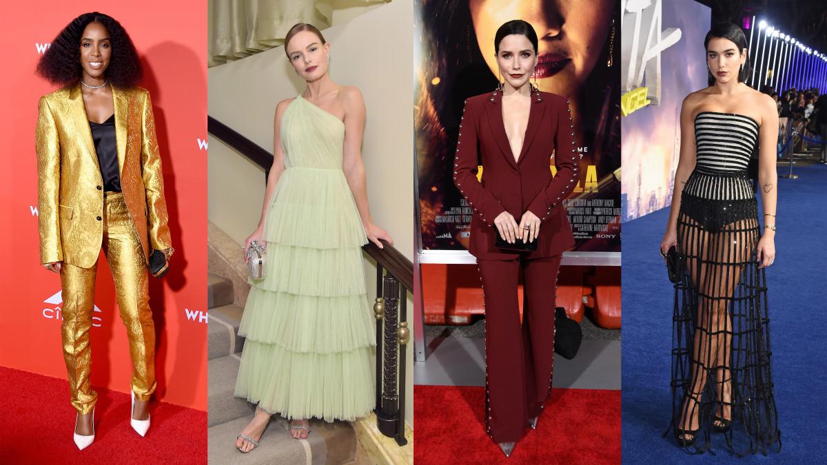 Kelly Rowland, Kate Bosworth, Sophia Bush and Dua Lipa. Photos: Getty Images