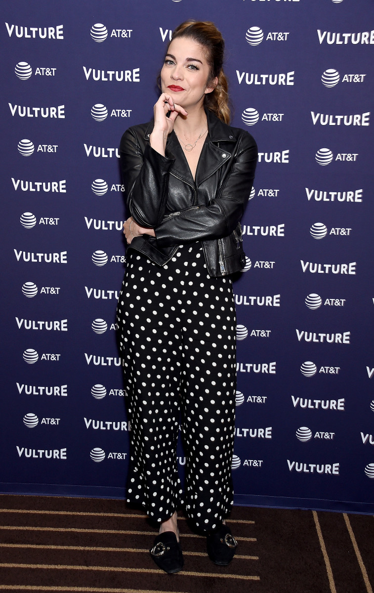 Annie Murphy at the Vulture Festival in Los Angeles in Nov. 2018. Photo: Gregg DeGuire/Getty Images
